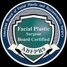 Facial Plastic Surgeon Board Certified ABFPRS